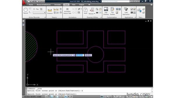 Calculating areas: AutoCAD 2009: 2D Drafting Techniques
