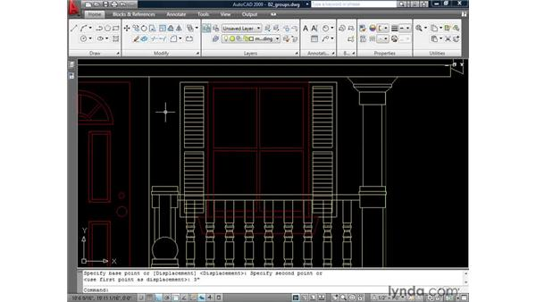 Organizing geometry using groups: AutoCAD 2009: 2D Drafting Techniques