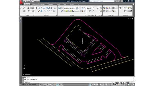 Using the Fence: AutoCAD 2009: 2D Drafting Techniques