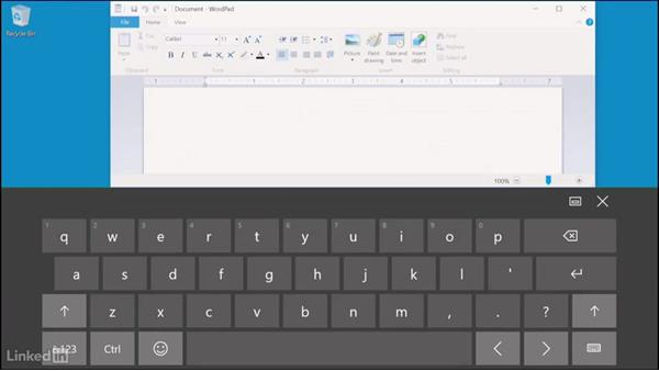 Onscreen touch keyboard in Windows: Learn Microsoft Surface: The Basics