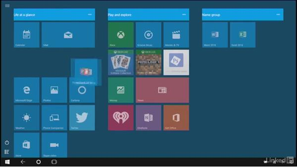 Work with tiles and pin apps to the Start screen: Learn Microsoft Surface: The Basics