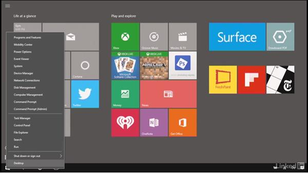 Access the Task Manager, Quick Link menu, and Control-Alt-Delete: Learn Microsoft Surface: The Basics