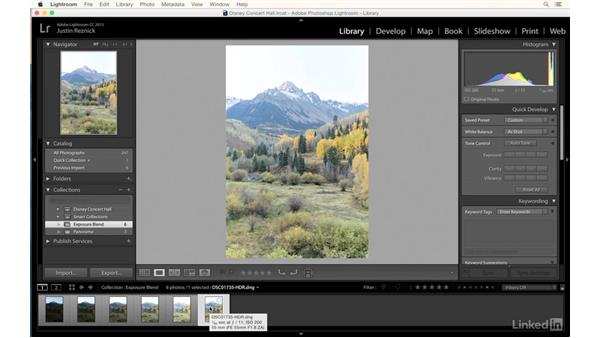 Lightroom panorama and HDR features: Landscape Photography with Lightroom and Photoshop