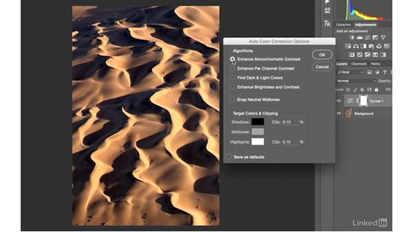Automatic color correction options in Photoshop: Landscape Photography with Lightroom and Photoshop