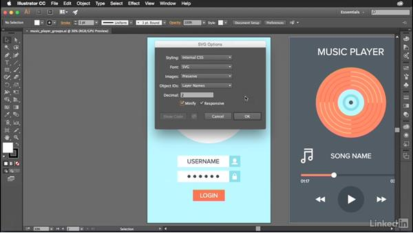 Exporting entire artboards to SVG: Illustrator CC for Web Design: SVG