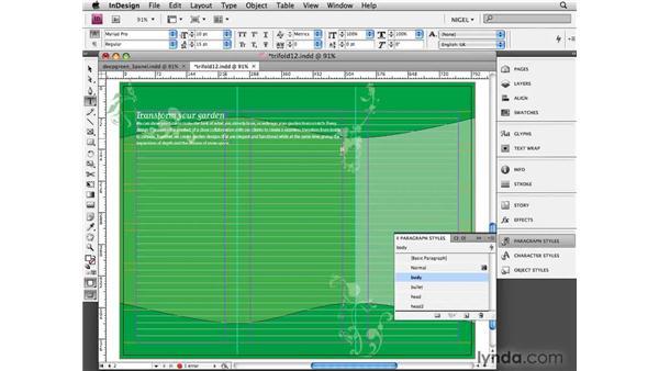 Arranging text: Designing a Brochure (2009)