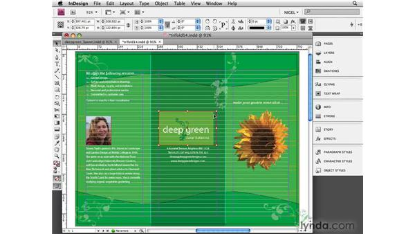 Scaling and cropping: Designing a Brochure (2009)