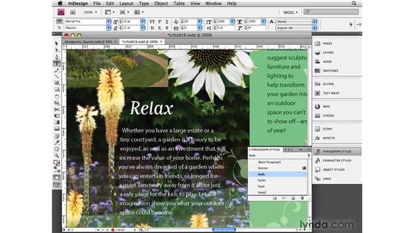 Refining text: Designing a Brochure (2009)