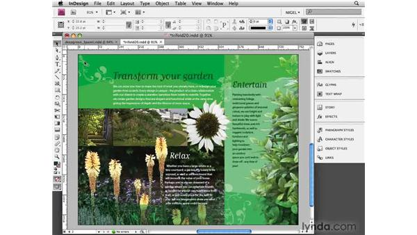 Finishing touches: Designing a Brochure (2009)