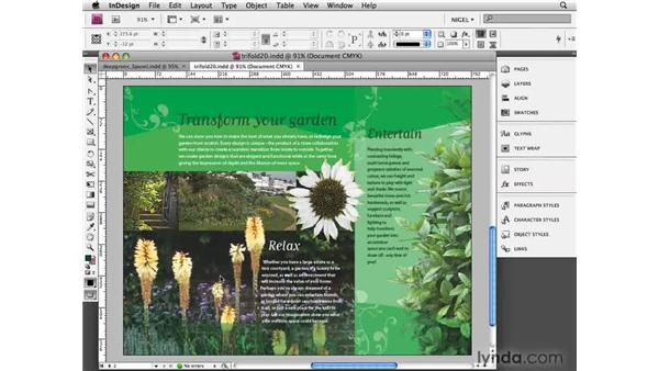 Soft-proofing: Designing a Brochure (2009)