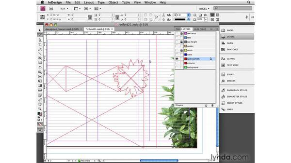 Adding a spot varnish: Designing a Brochure (2009)