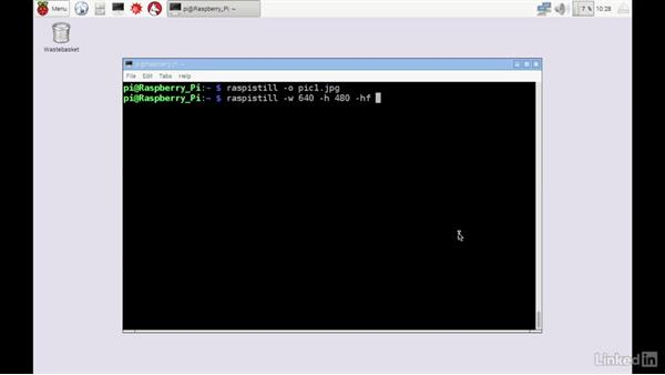 Take pictures from the command line with raspistill: Home Monitoring and Control with Raspberry Pi