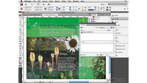 Preflighting the document: Designing a Brochure (2009)