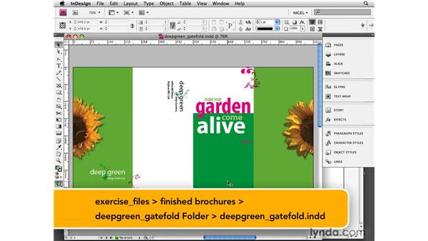 Exploring gatefold brochures: Designing a Brochure (2009)