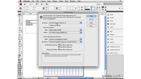Synchronizing color management settings: Designing a Poster