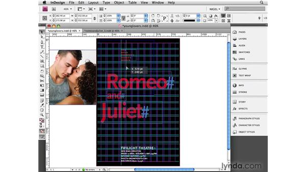 Young lovers: Designing a Poster
