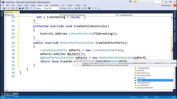 Configuring Web Part properties: Developing SharePoint Full Trust Solutions for SharePoint 2013