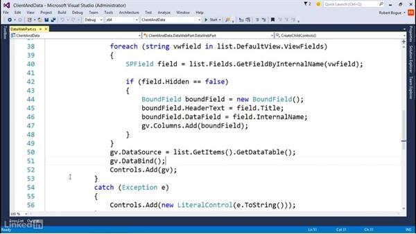 Getting data from SharePoint: Developing SharePoint Full Trust Solutions for SharePoint 2013