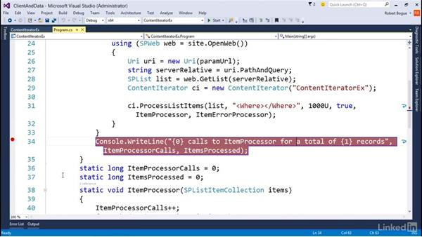 Getting large amounts of data from SharePoint: Developing SharePoint Full Trust Solutions for SharePoint 2013
