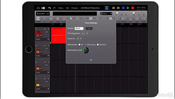 Record a track: Up and Running with Auria Pro