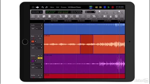 Additional editing tools: Up and Running with Auria Pro