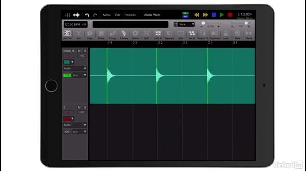 Audio warping: Up and Running with Auria Pro