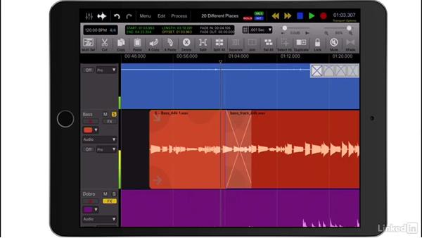 Crossfade regions: Up and Running with Auria Pro
