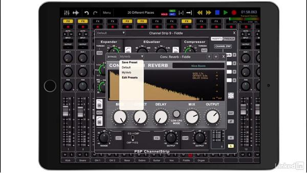 Use inserts and plugins: Up and Running with Auria Pro