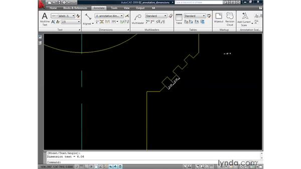 Creating annotative dimensions and multileaders: AutoCAD 2009: Annotation