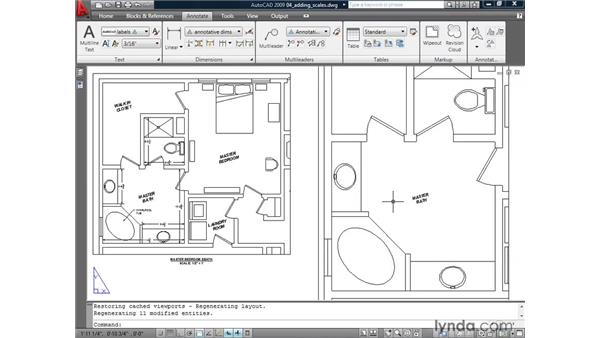 Adding scales to annotative objects: AutoCAD 2009: Annotation