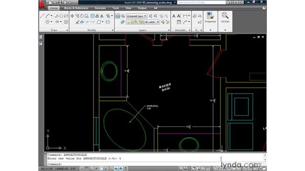 Removing scales from annotative objects: AutoCAD 2009: Annotation