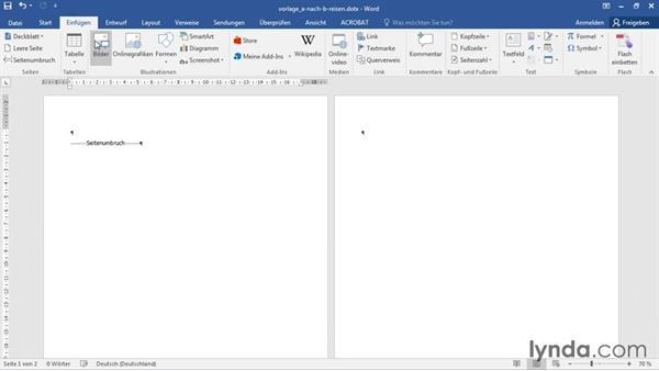 Vorgefertigtes Deckblatt Einfügen Und Firmenlogo Positionieren