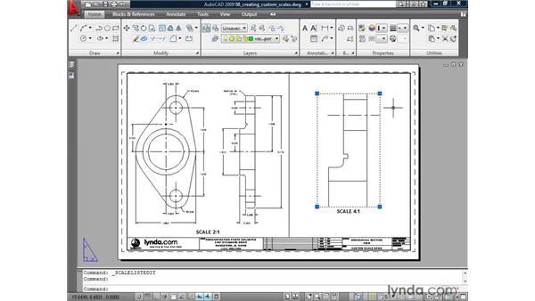 Creating a custom scale: AutoCAD 2009: Annotation