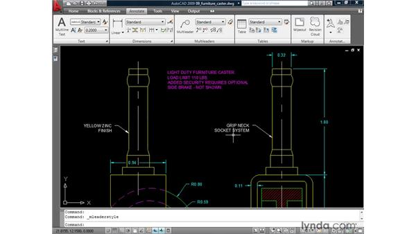 Converting non-annotative objects to annotative: AutoCAD 2009: Annotation