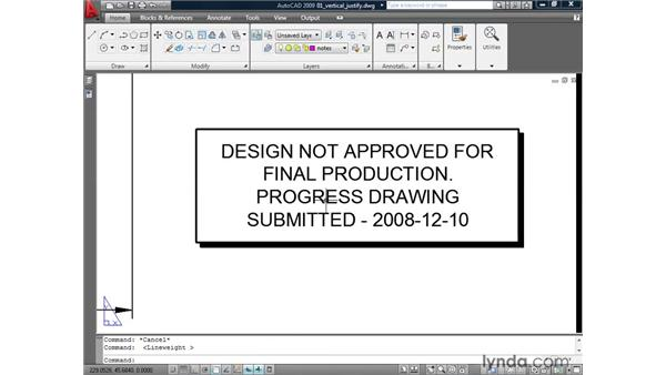 Justifying multi-line text vertically: AutoCAD 2009: Annotation