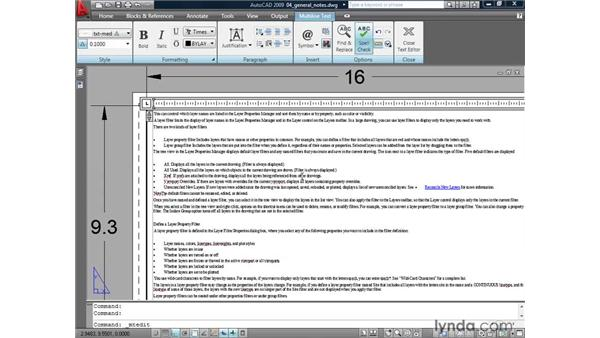 Creating multiple columns of MTEXT: AutoCAD 2009: Annotation