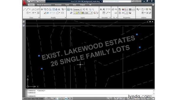 Adding a background mask: AutoCAD 2009: Annotation