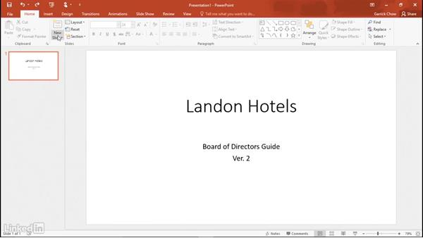 Creating a new presentation: Learn PowerPoint 2016: The Basics