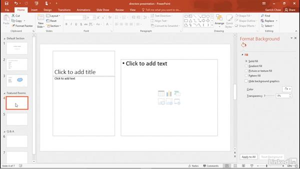 Formatting text: Learn PowerPoint 2016: The Basics
