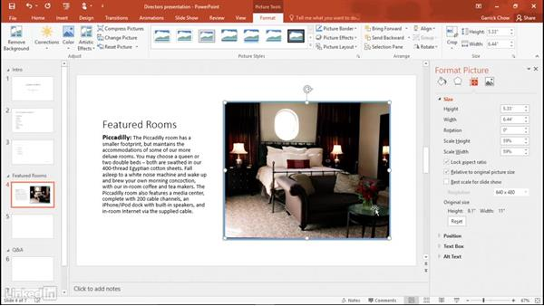 Inserting pictures: Learn PowerPoint 2016: The Basics