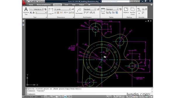 Breaking dimensions: AutoCAD 2009: Annotation
