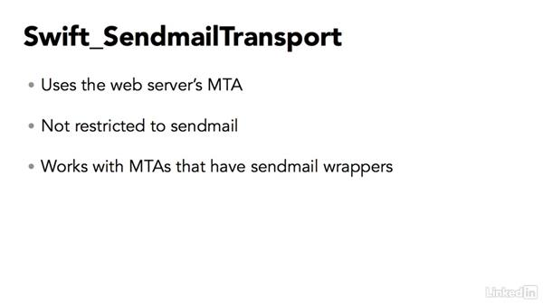 Choosing a transport to send the email: PHP Email with Swift Mailer
