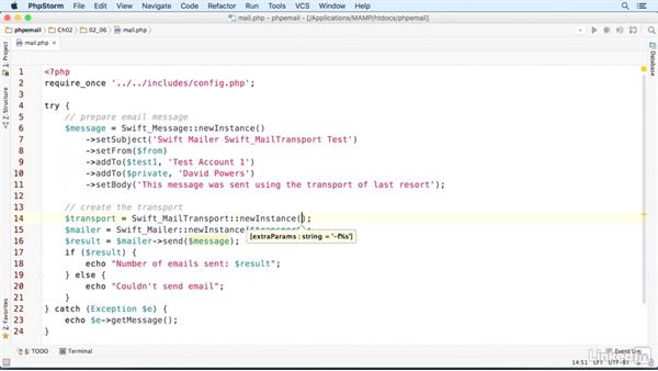 Using Swift Mailer with the PHP mail() function