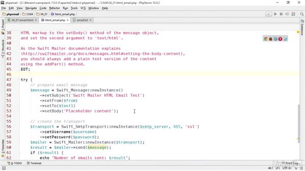 HTML email basics: PHP Email with Swift Mailer