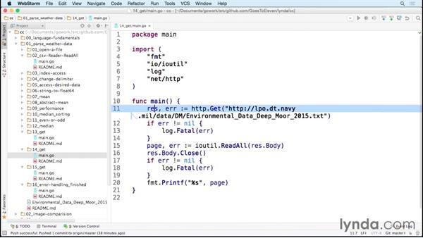 Retrieving filts using HTTP: Code Clinic: Go