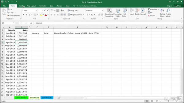 Create charts with the Recommended Charts feature: Excel 2016: Charts in Depth