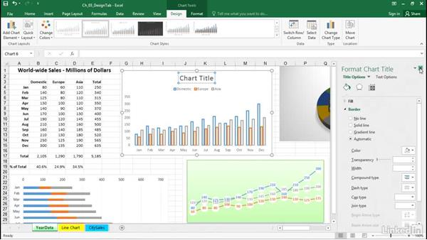 Add a chart element: Excel 2016: Charts in Depth