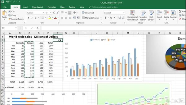 Change the location of a chart's source data: Excel 2016: Charts in Depth