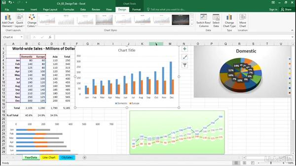 Change the default chart type and save it as a template: Excel 2016: Charts in Depth