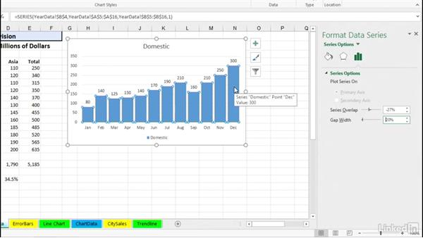Adding and editing data labels: Excel 2016: Charts in Depth